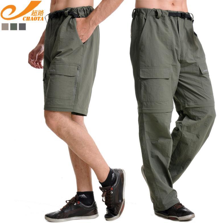CHAOTA 806 Erkekler Açık Çabuk kuruyan Pantolon erkekler erkek pantolon açık nefes ayrılabilir hızlı kuru yürüyüş pantolon
