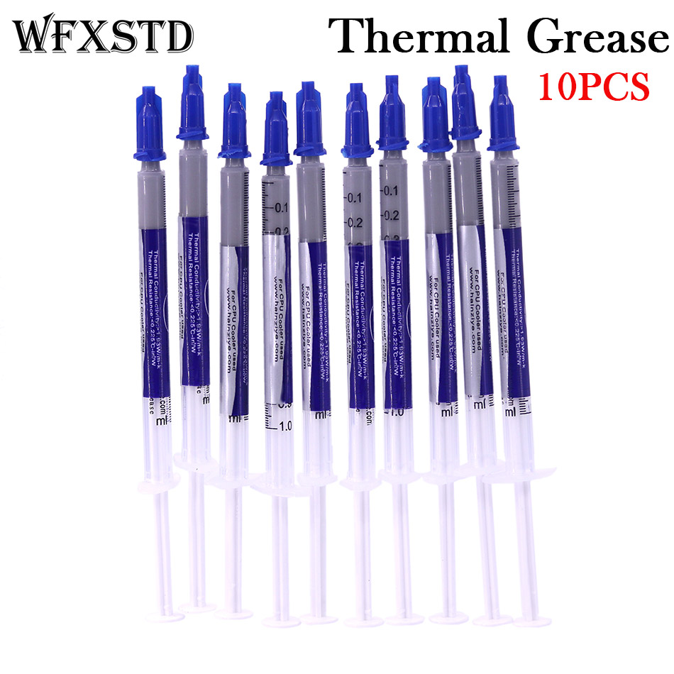 WFXSTD 10PCS New Thermal Grease Paste Compound Silicon Scraper CPU HeatSink Processor GPU Cooling silicone Fan Thermal Paste 73w mk grizzly bear liquid metal for thermal grizzly conductonaut 1g diy silicon grease for cpu gpu graphics card easy to cool