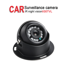 Mini Metal 600TVL Car Surveillance Camera,IR Night Vision 3.6mm lens for Vehicle Bus Truck Vans Boat Security,Free Shipping