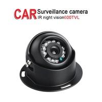 Mini Metal 600TVL Car Surveillance Camera,IR Night Vision 3.6mm lens for Vehicle Bus Truck Vans Boat Security,Free Shipping