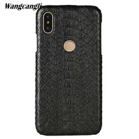 Luxury Leather python skin cover back cover For Xiaomi Mi 8 case python skin high end custom phone case For Xiaomi Mi Max 3