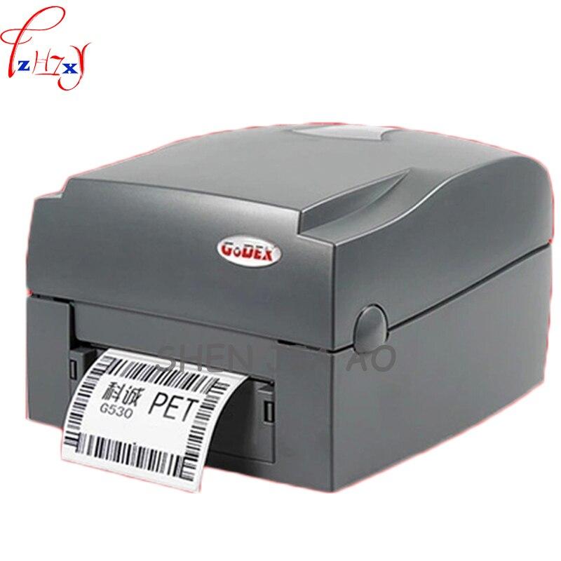 G530U 300dpi Label Barcode Printer Stickers Washing Water Mark Jewelry Clothing Tag Bar Code Printer 110-240V