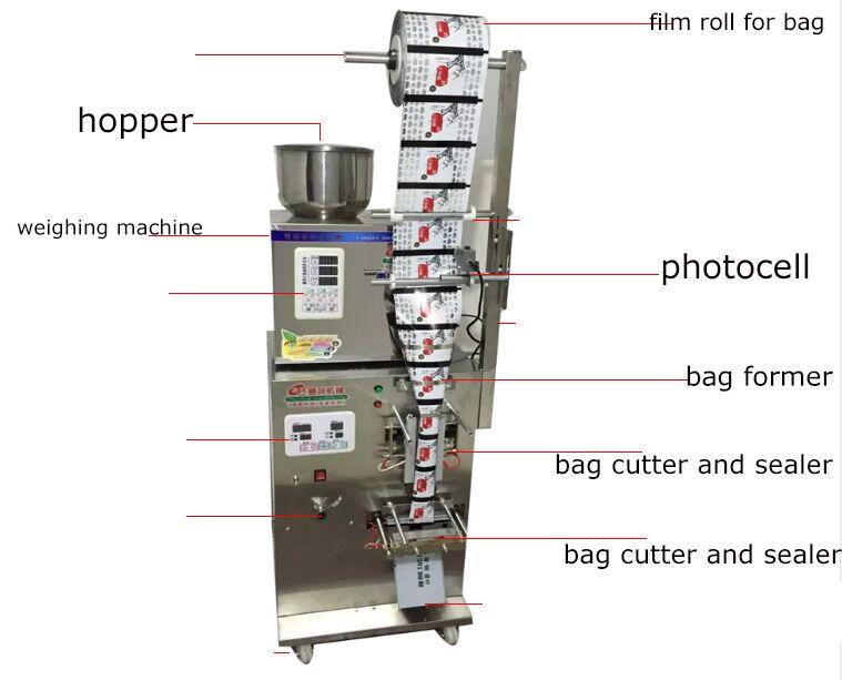 Machine à emballer de poudre de paquet de poche à faible coût, machine de cachetage de bâton de sel de sucre de café - 4