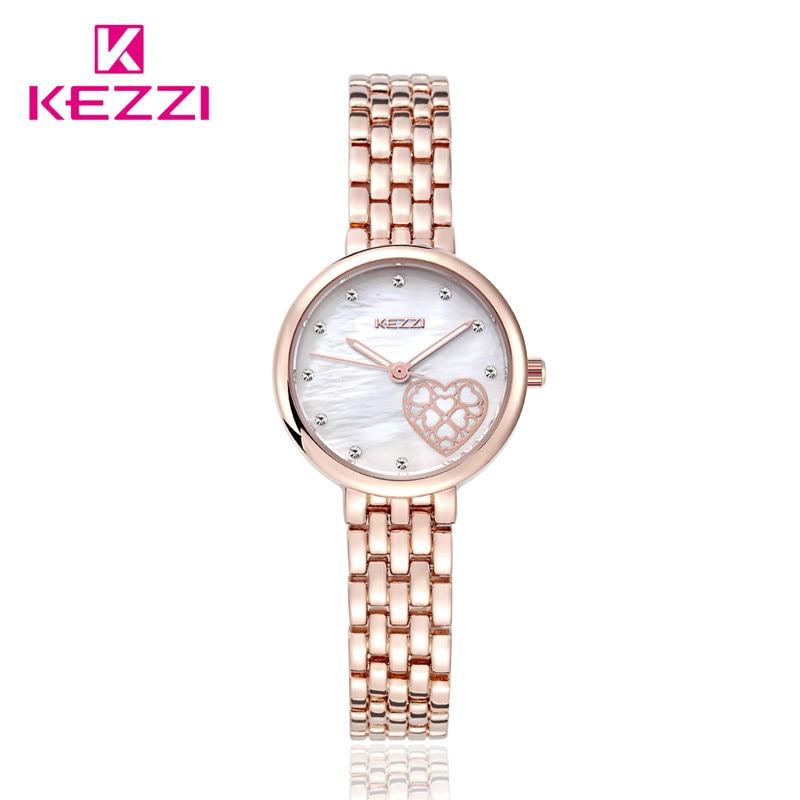 New Fashion Luxury Brand Women Dress Watch Quartz Bracelet Rose Gold Silver Watch KW1453 Waterproof Relogio