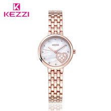 New Fashion Luxury Brand Women Dress Watch Quartz Bracelet Rose Gold Silver Watch KW1453 Waterproof Relogio