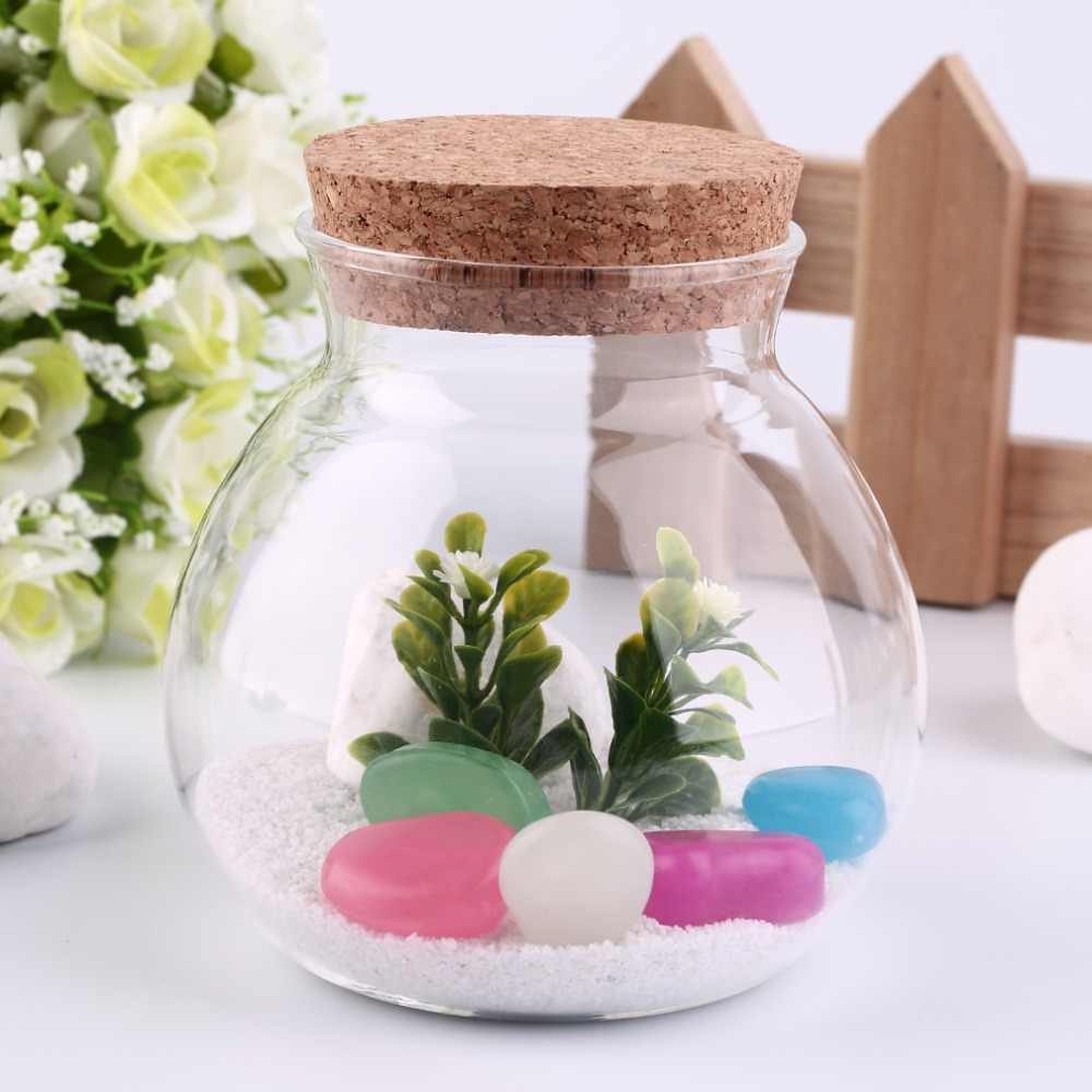 New Arrival Cute Design Tea Coffee Sugar Glass Canisters Flower Plant Vase Pot Home Decoration Party Transparent Beauty