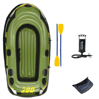 fishing 2 Person fish boat 218*110*36cm PVC inflatable boat fishing boat kayak paddle pump carry bag backpack dinghy raft A06001