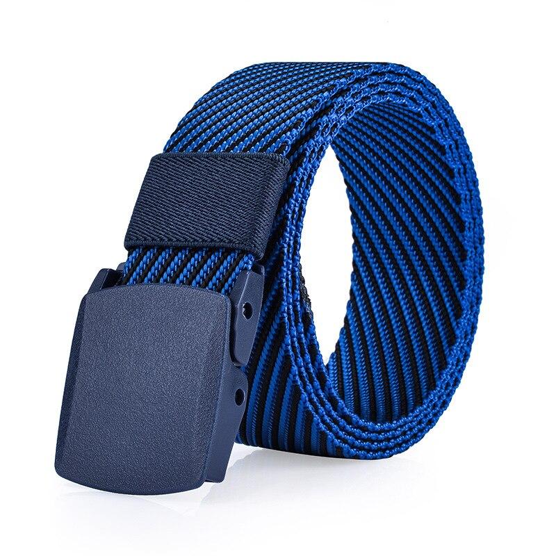 Fashion Twill Jacquard Tactical Belt Men Women Automatic Smooth Button 2017 Mens Belts Buckle Jeans Pants Designer Belts Men