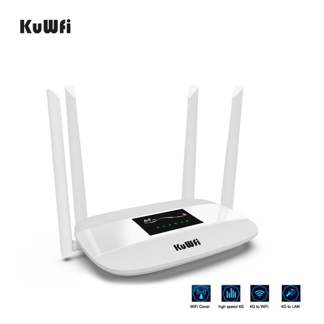 300Mbps Unlocked 4G LTE CPE Wireless Router Support SIM Card 4Pcs Antenna With LAN Port Support up to 32 Wifi users WPS Function