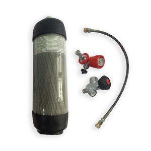 Image 2 - Acecare 6.8L 4500psi pcp carabine à air comprimé/gun gaz en fiber de carbone/HPA/Paintball cylindre/tank & valve et station de remplissage et protéger tasses en caoutchouc