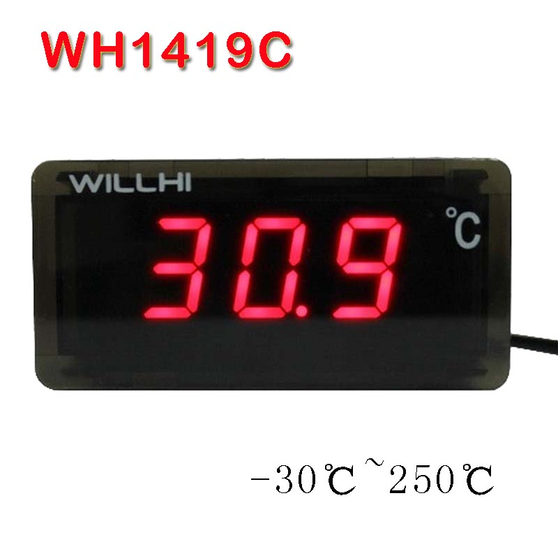 -30-250 Celsius degree digital thermometer LED display thermostat ...
