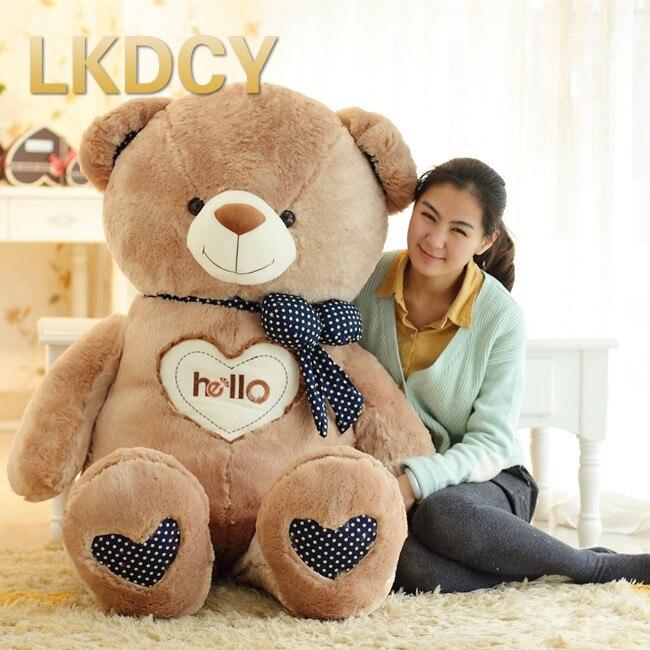 LKDCY hello bear Teddy bear plush font b toy b font bear cloth doll pillow Valentine
