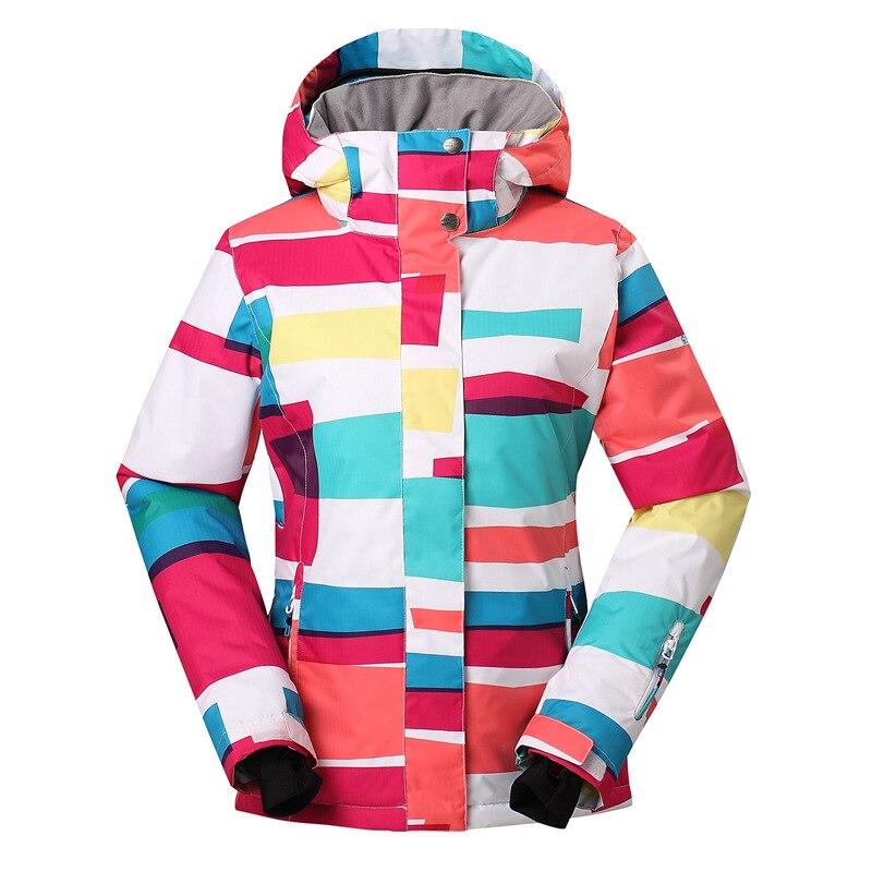 Hiver Coloré Diamant Ski Vêtements Cottom Impression À Capuchon Breathbable Chaud Étanche Skiboarding Manteaux pour Vente