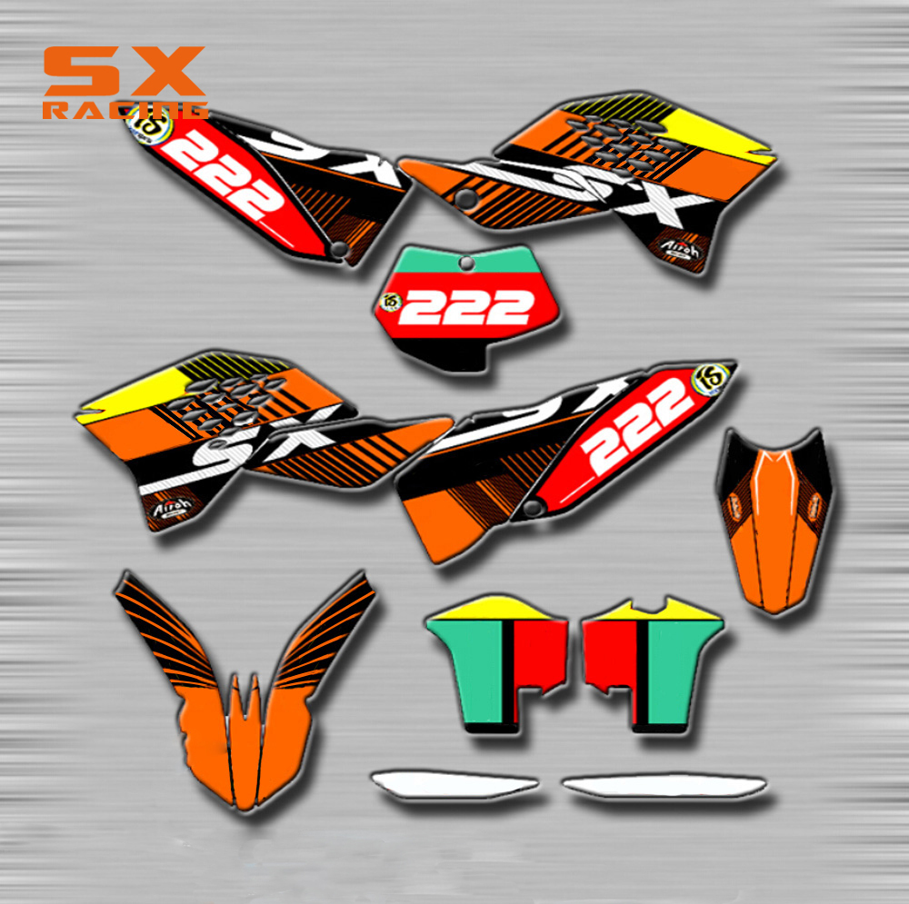 Motorcycle Decals Customize Pattern Custom Made <font><b>Stickers</b></font> Set For <font><b>KTM</b></font> SX SXF 125 150 250 350 <font><b>450</b></font> 07-10 EXC XC XCF XCW XCFW SMR image