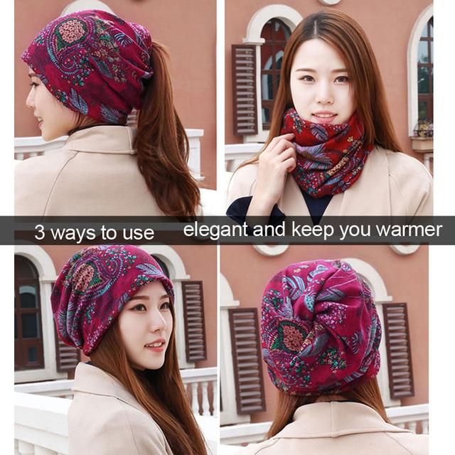 LongKeeper 6 Colors Women Beanies Caps Spring Women Beanie Hat For Women Caps 3 Way To Wear Bonnet 1