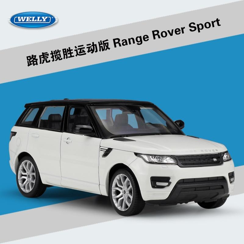 WELLY 1:24 Simulator i Lartë Metal Aurora Land Range Rover Sport SUV - Makina lodër për fëmije - Foto 4