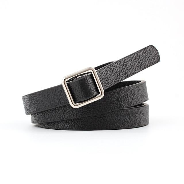Badinka 2018 nuevo diseñador Rosa rojo blanco negro cuero de la Pu Cinturón  fino señoras plata 587e386e15a2
