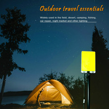 12V 6900LM outdoors led work light rechargeable Camping tent portable spotlight cob searchlight Telescopic rod plywood недорого