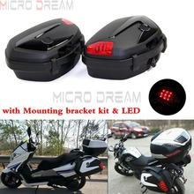 1 Pair 20L Motorcycle LED Tail Side Box Street Motorbike Universal Cases Luggage Cargo Tailcase For Kawasaki Ducati Triumph