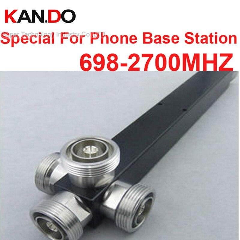 telecom use 4 Way Power Splitter (698~2700MHz) 500W special base station power divider feeder frequency splitter radio divider