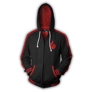 Image 5 - Anime Naruto Boruto Hoodie Uzumaki Boruto Naruto Uchiha Sasuke Akatsuki Tops Hoodies Sweatshirt Dünne Zipper Mantel Outfit