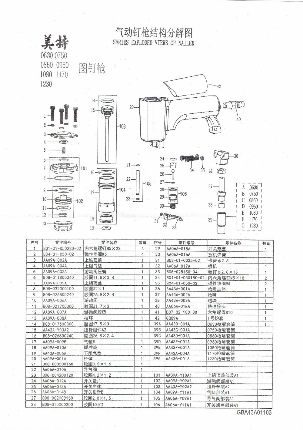 High Quality meite 0860 Pneumatic Pins Gun Air Pins Tool