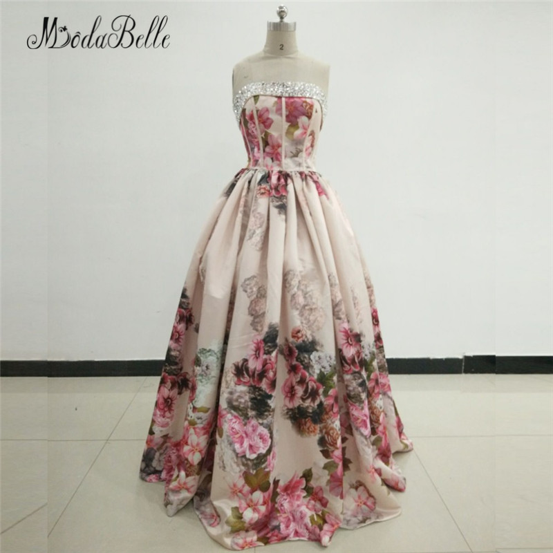 Modabelle Dames Dubai Avondjurk Bloemen Robe Longue Soiree - Jurken voor bijzondere gelegenheden