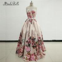 modabelle Ladies Dubai Evening Dress Flowers Robe Longue Soiree Saudi Arabia Floral Satin Prom Dresses Formal Gowns 2018