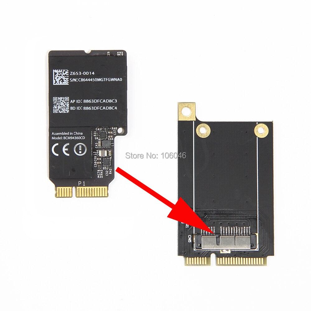 Prix pour Nouveau Broadcom BCM94360CD 802.11ac WiFi WLAN Bluetooth 4.0 Carte pour Apple iMac avec Mini PCI-E Adaptateur Convertisseur à Interface OS X