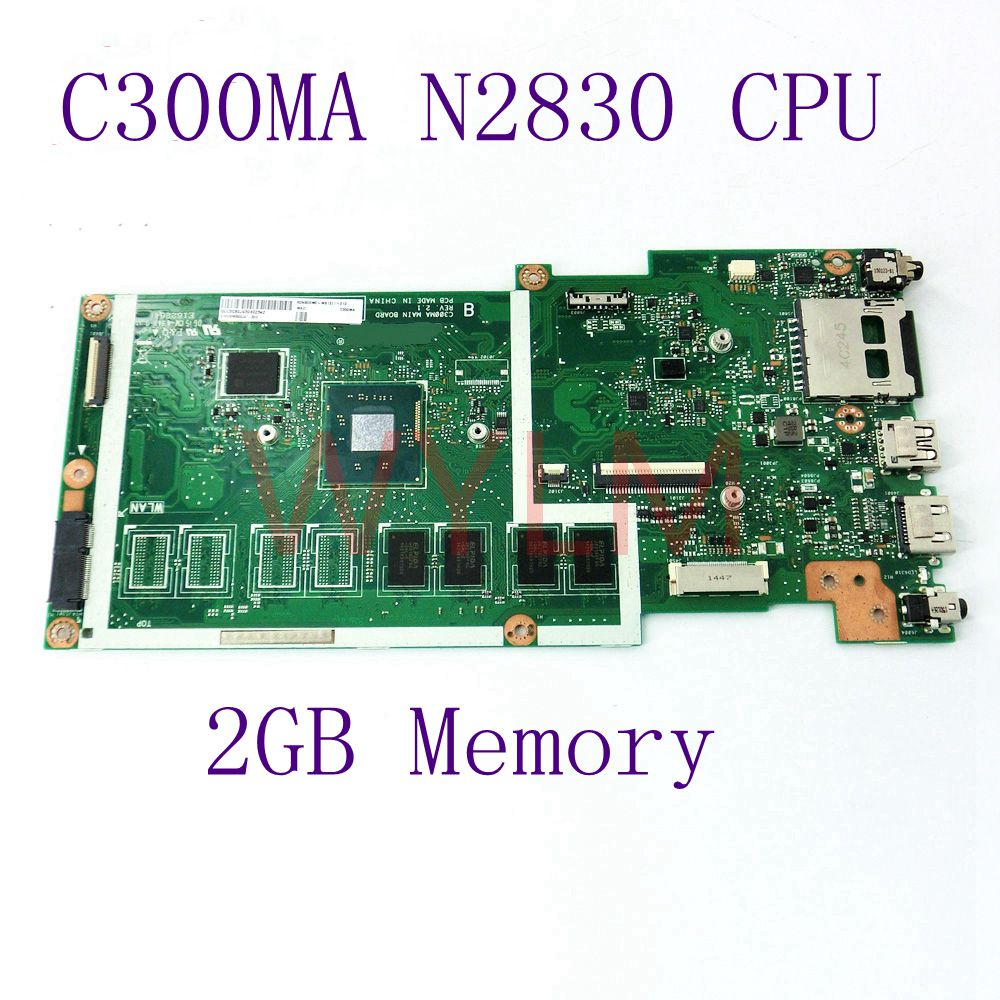 цены C300MA With N2830 CPU 2GB MCCemory mainboard For ASUS C300MA C300M laptop motherboard DDR3 60NB05W0-MB1511-213 100% Fully tested