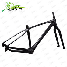 Newest snow bike frame carbon fat bike frame fork size 150*15mm fit for 26er*5.0inch bicicleta Fat Bike Frame 26er carbon frame(China)