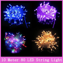 10M 100led AC220V led string light colorful holiday led lighting waterproof outdoor decoration light christmas light for party