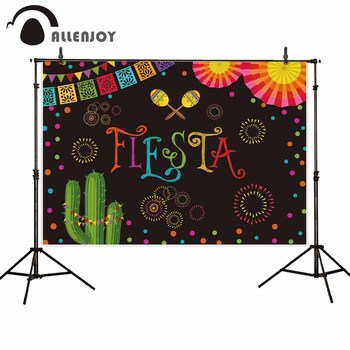 Allenjoy photography backdrops colorful Mexico fiesta celebrate festival party photo background camera photobooth photocall image