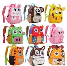 Children 3D Cute Animal Design Backpack Toddler Kid Neoprene School Bags Kindergarten Cartoon Comfortable Bag Monkey