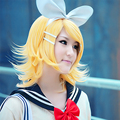 Kagamine Rin VOCALOID Short Golden Party Cosplay Wig