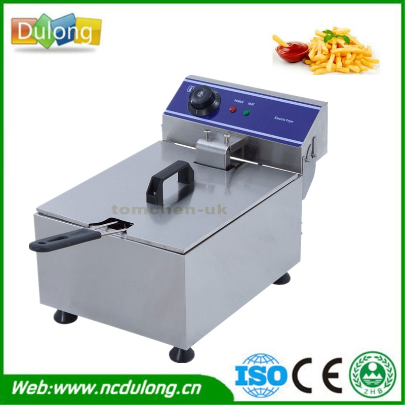 Household And Commercial 10L Electric Deep Fryer Stainless Steel Chicken Steak Frying Machine shipule fast food restaurant 30l commercial electric chicken deep fryer commercial potato chips deep fryer frying machine