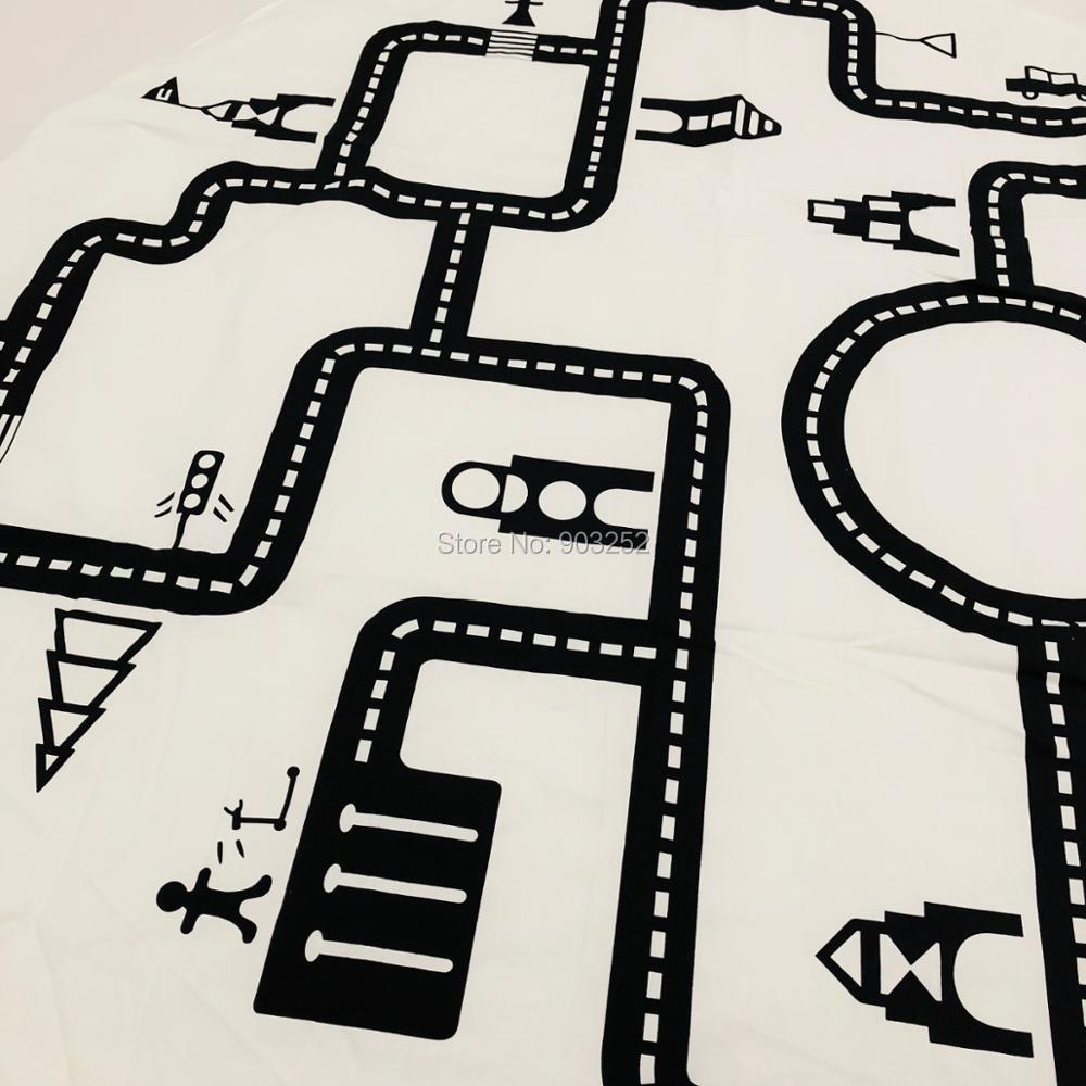 INS модели лабиринт игровой коврик дорожный хлопок двойной круглый черно-белый игровой ковер одеяло для ползания украшение детской комнаты одеяло
