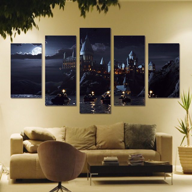 5 Pieces Harry Potter Scene Canvas Printed Home Decor For