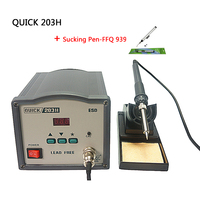 QUICK 203H high frequency digital SMD soldering station iron 90W for welding machine