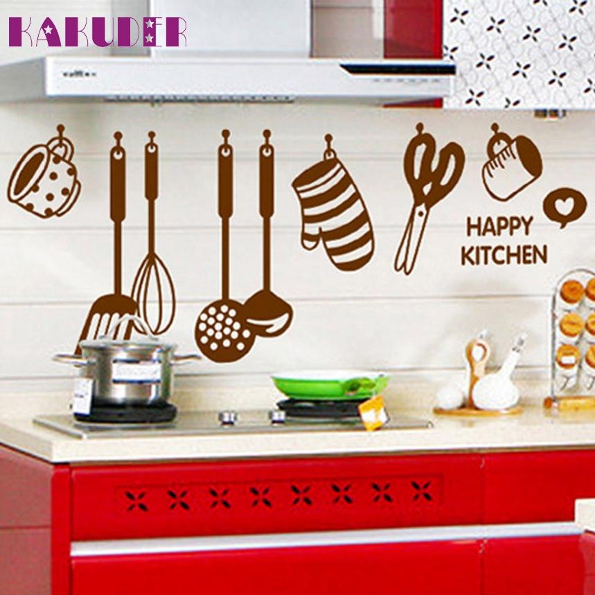 kakuder top grand diy alta calidad de vinilo pegatinas pared de la cocina decoracin del hogar