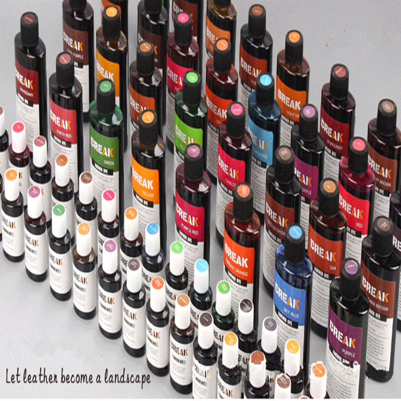 32colors 30ml/bottle Break Brand Leather Alcohol Dyestuff Cowhide Dye Vegetable Tanned Leather Coloring Agent Free Shipping