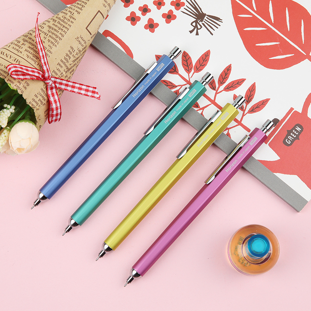 יפן OHTO אופק לדחוף צבע ג ל עט 0.5mm NKG עסקי משרד חתימת עט Kawaii ציוד לבית ספר 1 PCS