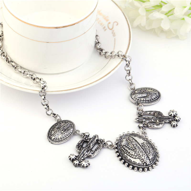 Винтидж обшивка тибетски сребърен - Модни бижута - Снимка 2