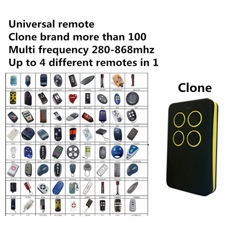 Buy best discount multi frequency copy 280 868mhz rolling code garage door - Rolling code garage door remote ...