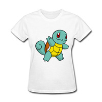 2017 Hot High Quality Cotton Pokemon Print Funny T Shirt Women