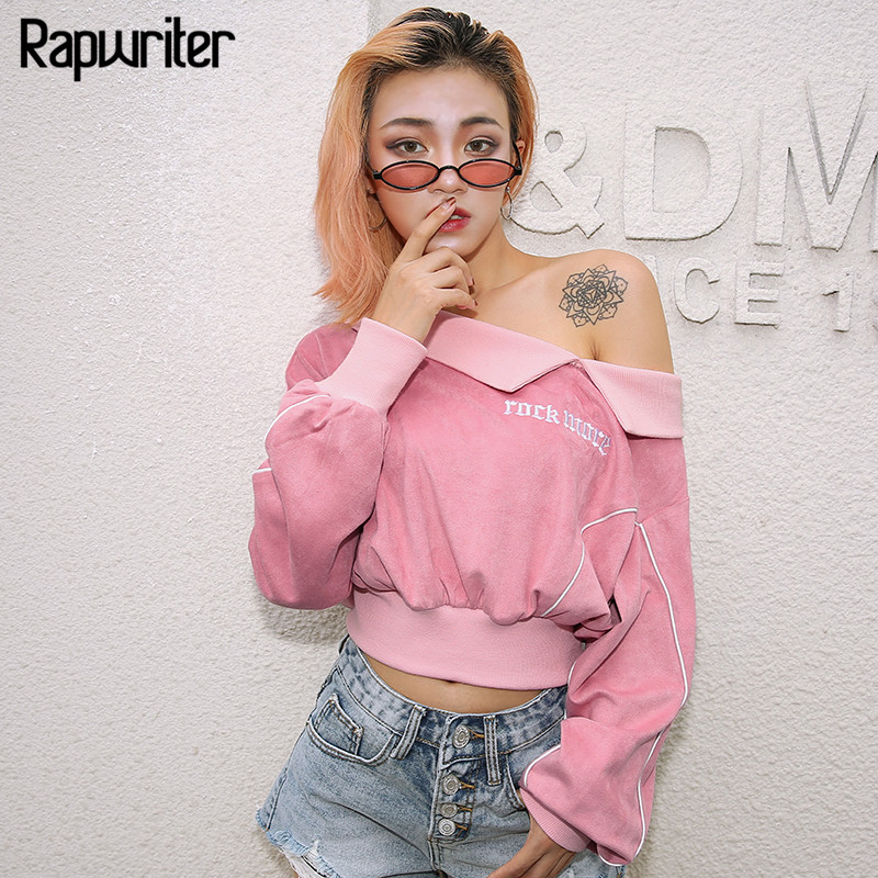 Women's Clothing Rapwriter Fashion Letter Printed Short Harajuku Sweatshirt Women 2019 Spring O-neck Long Sleeve Crop Top Sweatshirts Pullovers