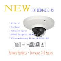 Бесплатная доставка dahua безопасности IP Камера 4mp Full HD мини купольная сетевая Камера ip66 с POE без логотипа ipc hdb4431c as
