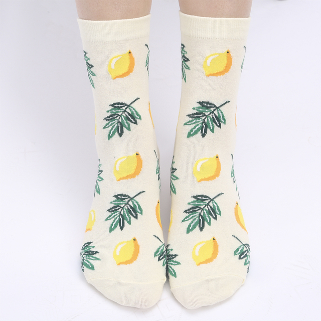 YEADU Women's Socks Japanese Cotton Colorful Cartoon Cute Funny Happy kawaii Skull Alien Avocado Socks for Girl Christmas Gift 5