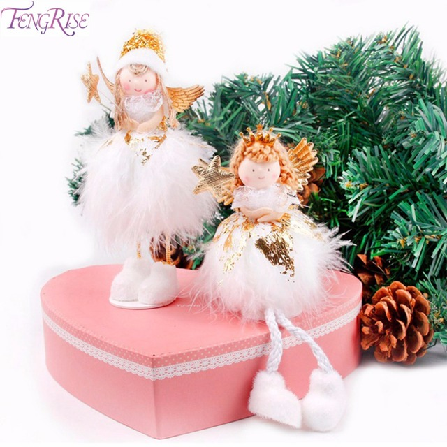 fengrise christmas angel doll merry christmas decorations for home christmas tree decorations ornament happy new year