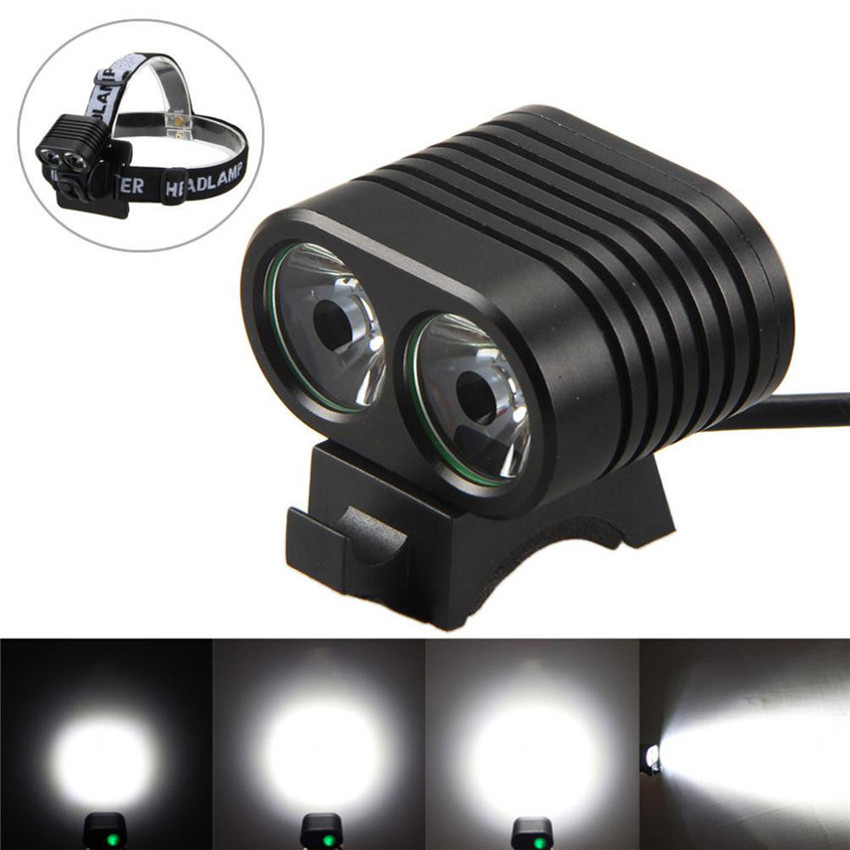 Bicycle Cycling Lights Waterproof LED 2 in1 8000 lumens 2x T6 4 Modes Light Lamp Bike Head Headlight+Rear light Tail Lamp M20